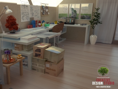 Creative Office - made with C4D.
