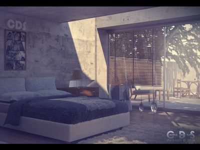 The Bedroom - made with C4D.